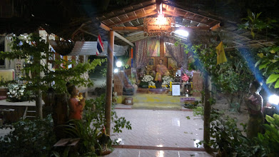 Photo: Temple on island of Koh Tao, where I had to go because of power failure on my island (this neighbouring island runs on diesel).