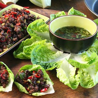 Chilli Beef Lettuce Wraps.