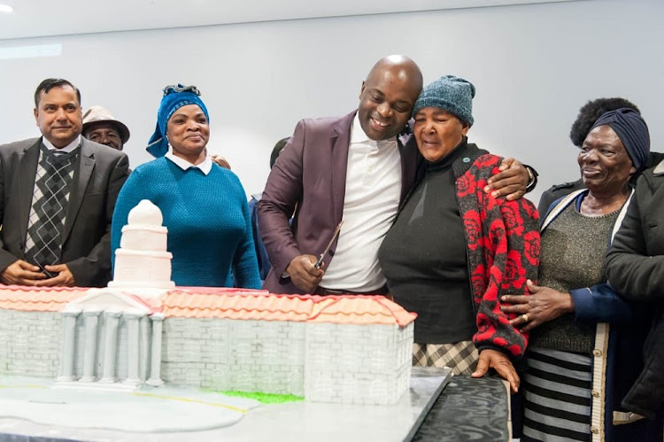City of Tshwane mayor Solly Msimanga and his mom Granny during his 38th birthday celebration.