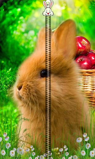 Rabbit Zipper Lock Screen