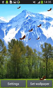 horské živé tapety - náhled