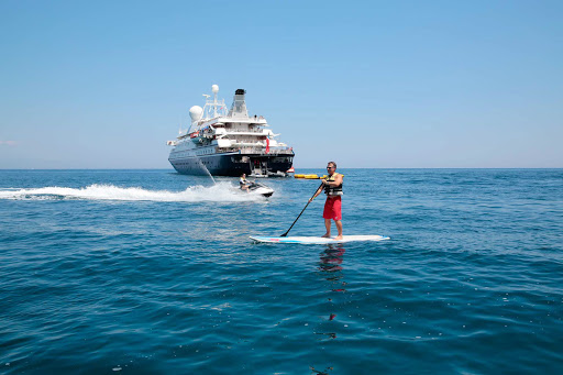 Seadream-jetskis.jpg - Jet skis and paddleboards are two of the watercraft available for use, free of charge, on your SeaDream cruise.