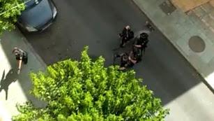 Imagen grabada por los vecinos durante el incidente.