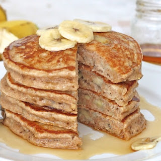 Whole Wheat Banana Pancakes.