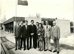 Photo: Bestuur H.M.S.H. bij opening nieuw clubgebouw 1973