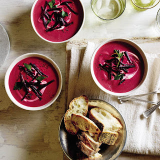 Beet, Ginger and Coconut Milk Soup.