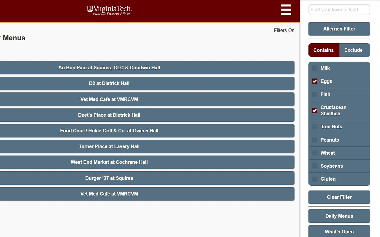 Hokie Dining- screenshot