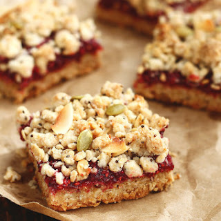 Vegan Raspberry Crumble Bars