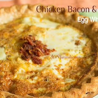 Chicken, Bacon, & Cheese Egg White Quiche.