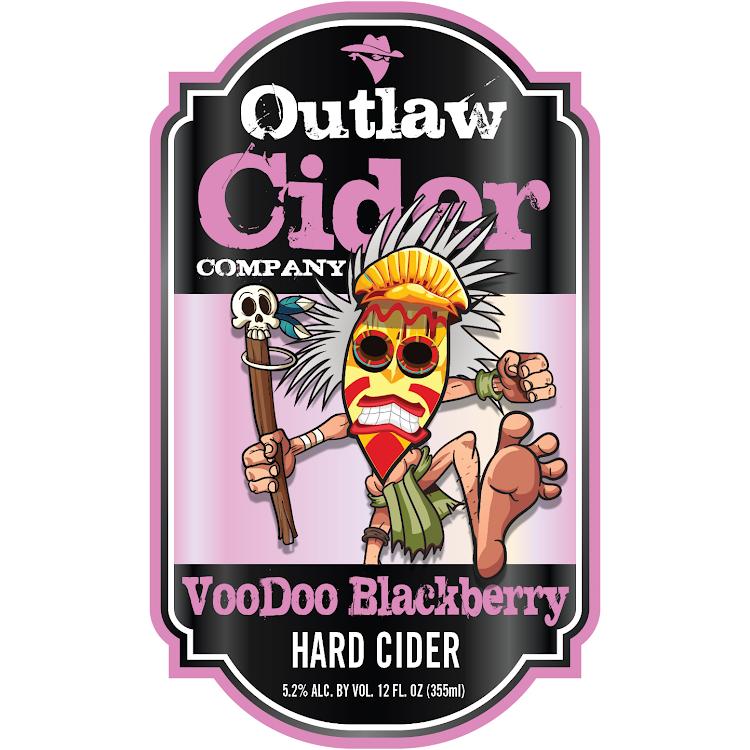 Logo of Outlaw Cider Company Voodoo Blackberry Hard Cider