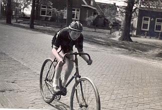 """Photo: Evert Mennega, wielrenner """"Koppie""""."""