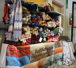 Photo: Justifiably Julia Eco Friendly Reclaimed Yarns at Delmarva Wool & Fiber Expo 2015 (Fall) | Photograph Copyright Robert J Banach #oceancitycool