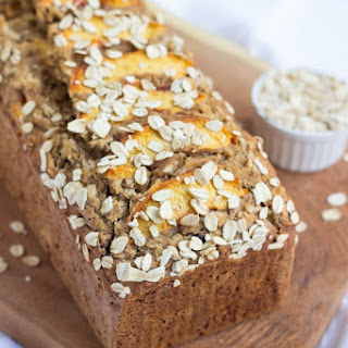 Peachy Oatmeal Banana Bread