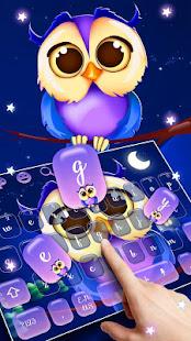 Cute Night Owl Keyboard
