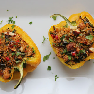 Quinoa Stuffed Peppers with Red Chili.