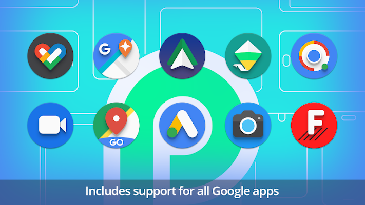 PieCons - Ultimate Android Pie Icon Pack Screenshot Image