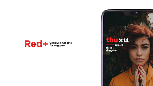 Red+ : Oneplus 6 widgets 1 2 (Paid) APK for Android