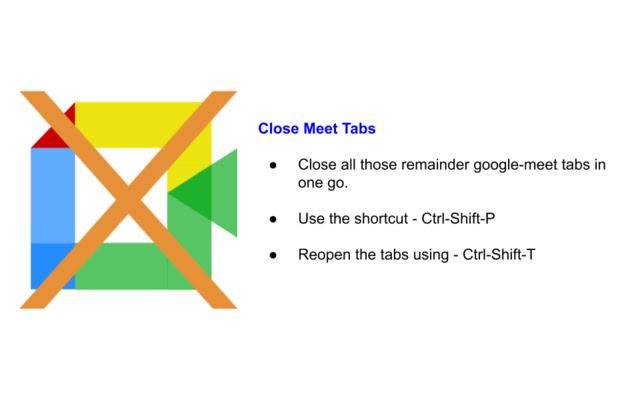 Close Meet Tabs