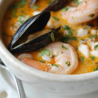Brazilian Fish, Shrimp & Mussel Stew.