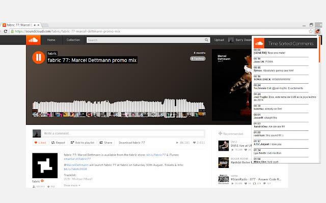 SoundCloud Comments Sort