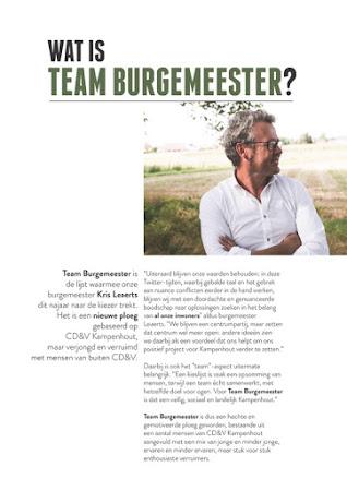 Wat is Team Burgemeester?