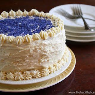 Vanilla Birthday Cake with 'Buttercream' Icing (Vegan).