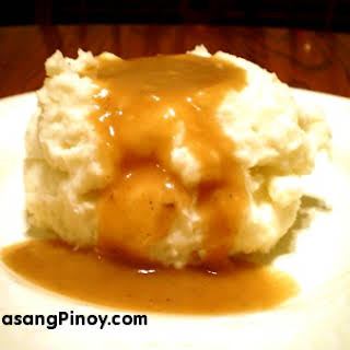 Homemade Mashed Potato.