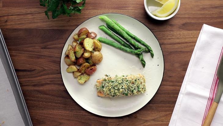 Parmesan & Herb Crusted Salmon