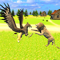 Wild Eagle Family: Flying Griffin Simulator Games icon