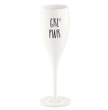 Champagneglas med print 6-pack 100ml, Grl pwr