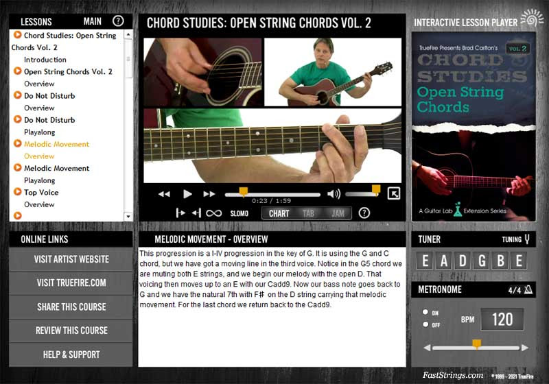 Brad Carlton – Chord Studies: Open String Chords Vol. 2