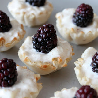 Goat Cheese, Blackberry and Pear Bites
