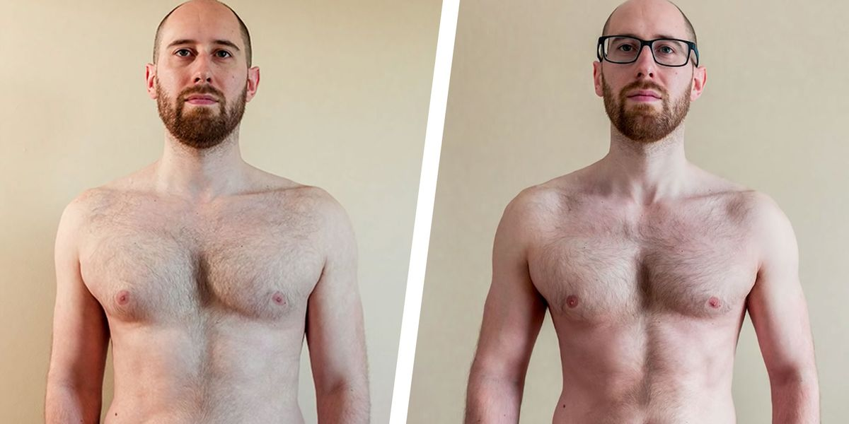 Alternate day fasting results transformation pictures taken from Men's Health