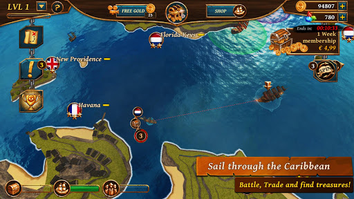 Ships of Battle - Age of Pirates - Warship Battle  screenshots 2