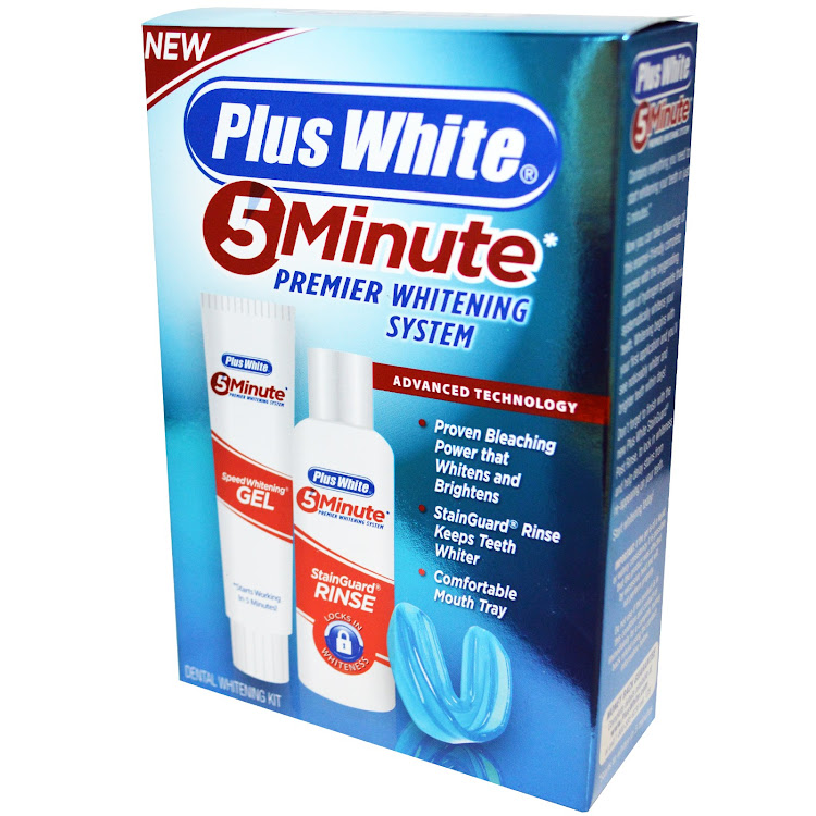 Plus White, 5 Minute Premier Whitening System, 3 Piece Whitening Kit
