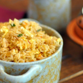 Spicy Schezwan Indo-Chinese Egg Fried Rice