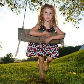 Tree Swing Fun by Michael Smith - Babies & Children Children Candids ( playing, child, candid, young girl, swing )