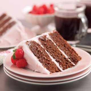 Chocolate Cake with Raspberry Frosting.