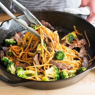 Beef and Broccoli Chow Mein.