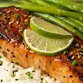 Honey Bourbon Glazed Salmon