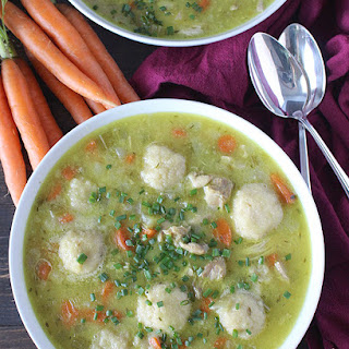 Paleo Chicken and Dumplings Soup.