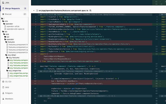 GitLab Commit File Tree