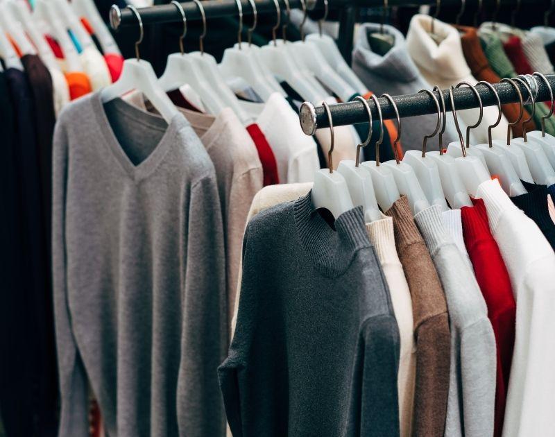 10 Simple Ways to Reduce Impulse Buying clothing rack