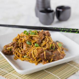 Five Spice Pork Lo Mein.