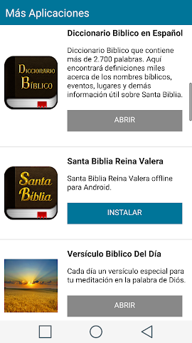 android Santa Biblia Español Screenshot 7