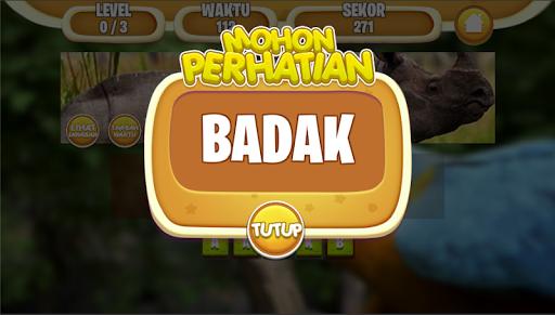 Tebak Nama Binatang Indonesia screenshot 5