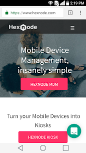 Hexnode Kiosk Browser – The Secure Browser Apk  Download For Android 2