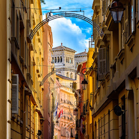 Old Monaco Town by Linda Brown - City,  Street & Park  Historic Districts