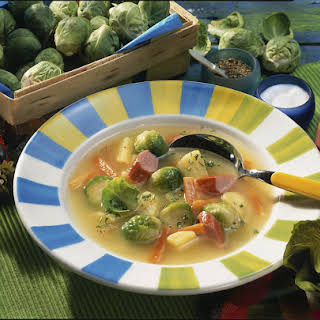 Brussels Sprouts And Potato Soup.