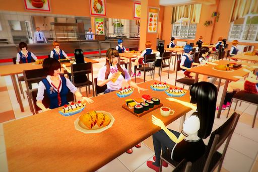 Virtual High School Girl Simulator Real Family apkmr screenshots 1